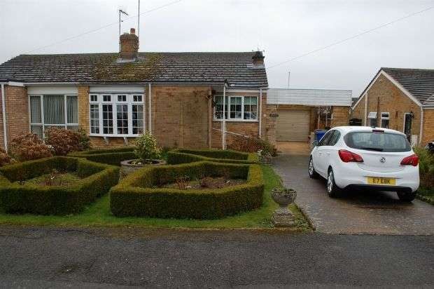 2 Bedrooms Semi Detached Bungalow for sale in Manor Close, Harpole, Northampton NN7 4BX