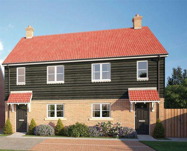 3 Bedrooms Semi Detached House for sale in Sapphire Gardens, Mildenhall, Bury St Edmunds
