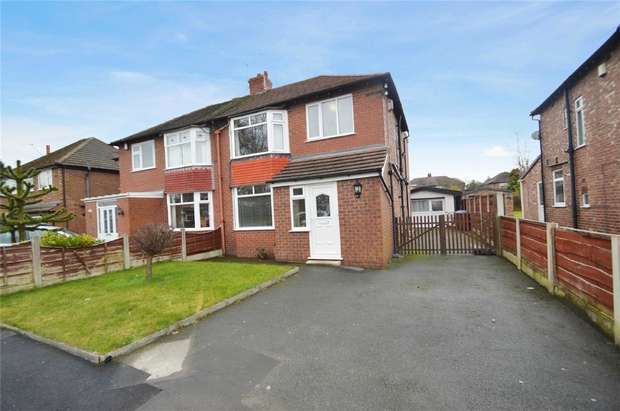 3 Bedrooms Semi Detached House for rent in Earle Road, Bramhall, Stockport, Cheshire