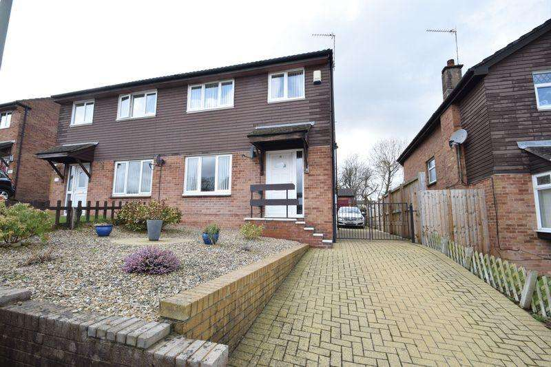 3 Bedrooms Semi Detached House for sale in Larch Close, New Inn