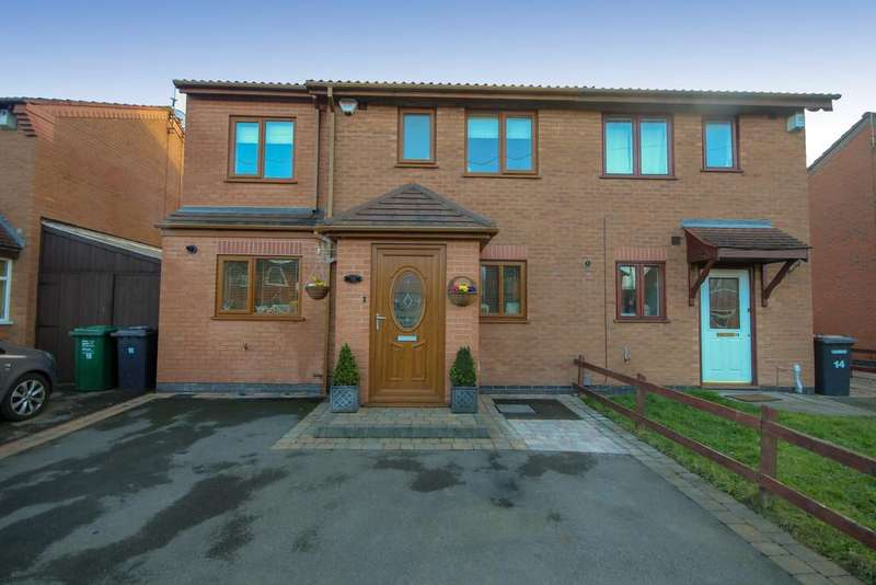 4 Bedrooms Semi Detached House for sale in Irvine Close, Stenson Fields