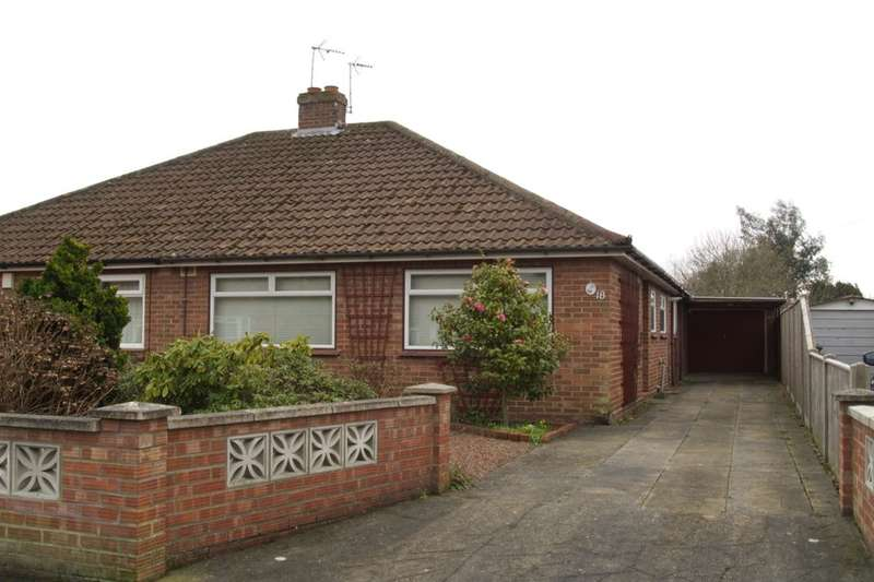 3 Bedrooms Semi Detached Bungalow for sale in Booty Road, Thorpe St Andrew, Norwich, NR7
