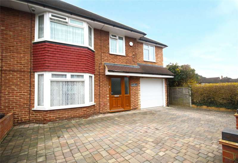 4 Bedrooms Semi Detached House for sale in Meadow Way, Addlestone, Surrey, KT15