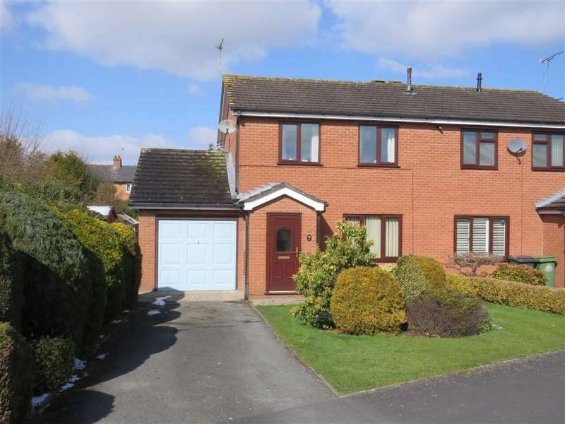 3 Bedrooms Semi Detached House for sale in Stanham Drive, Ellesmere, SY12