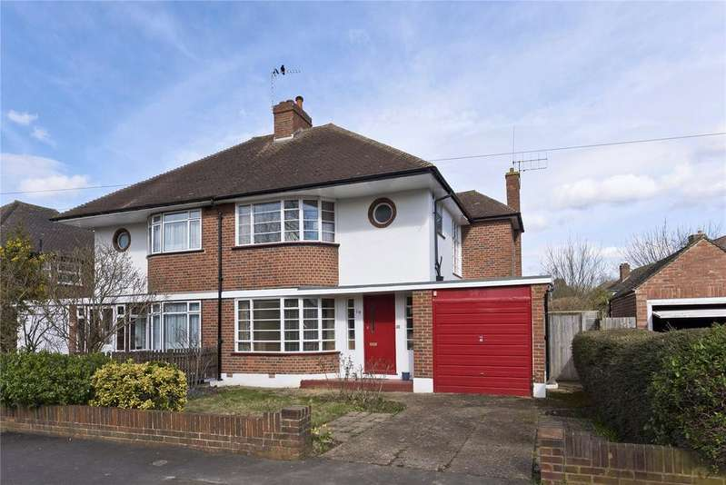 3 Bedrooms Semi Detached House for sale in Denleigh Gardens, Thames Ditton, Surrey, KT7