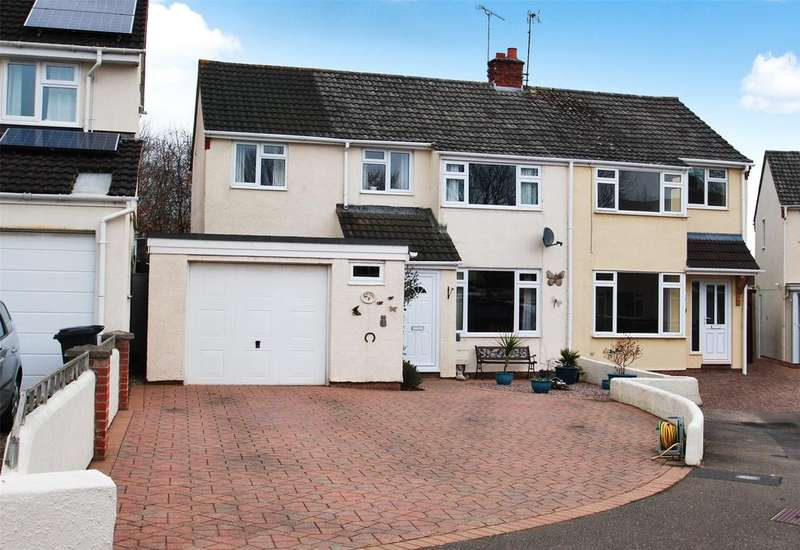 4 Bedrooms Semi Detached House for sale in Statham Close, Taunton