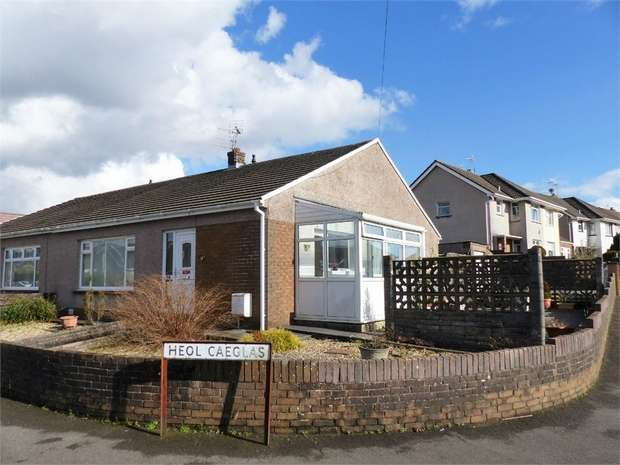 3 Bedrooms Semi Detached Bungalow for sale in Heol Cae Glas, Tondu, Bridgend, Mid Glamorgan