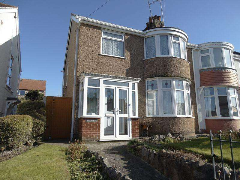 3 Bedrooms Semi Detached House for sale in Marine View, Colwyn Bay