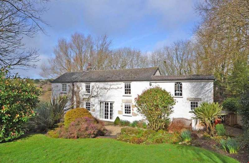 4 Bedrooms Detached House for sale in Trescowe Common, Germoe, Penzance, West Cornwall, TR20