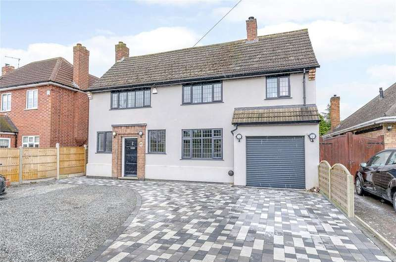 4 Bedrooms Detached House for sale in Sapcote Road, Burbage, Hinckley, Leicestershire, LE10