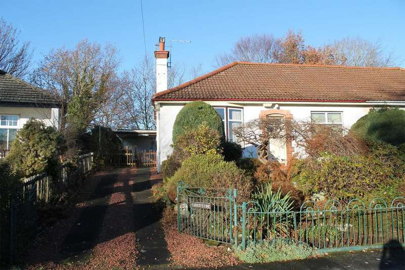 2 Bedrooms Semi Detached Bungalow for sale in Caberfeidh, Lintwhite Crescent, BRIDGE OF WEIR, PA11 3LJ