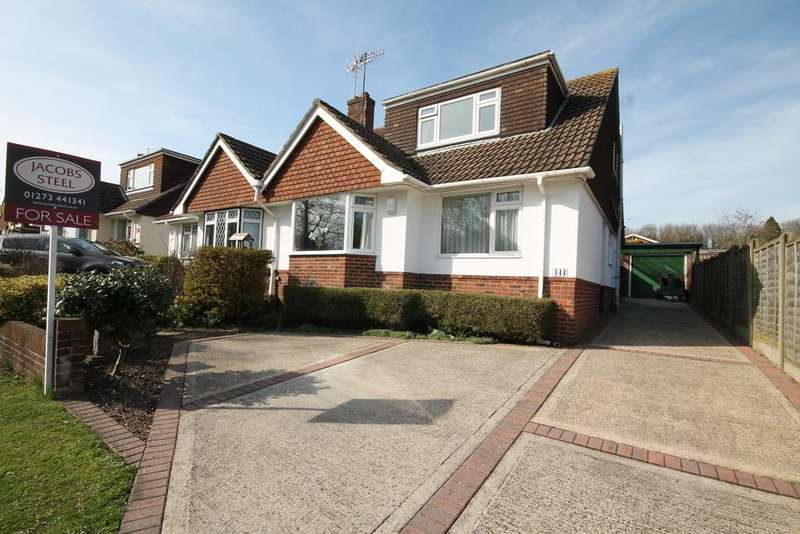 3 Bedrooms Semi Detached Bungalow for sale in Downside, Shoreham-by-Sea, West Sussex BN43 6HB