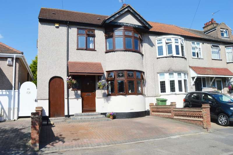 4 Bedrooms End Of Terrace House for sale in Brooklands Gardens, Hornchurch