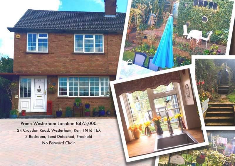 3 Bedrooms Semi Detached House for sale in Croydon Road, Westerham