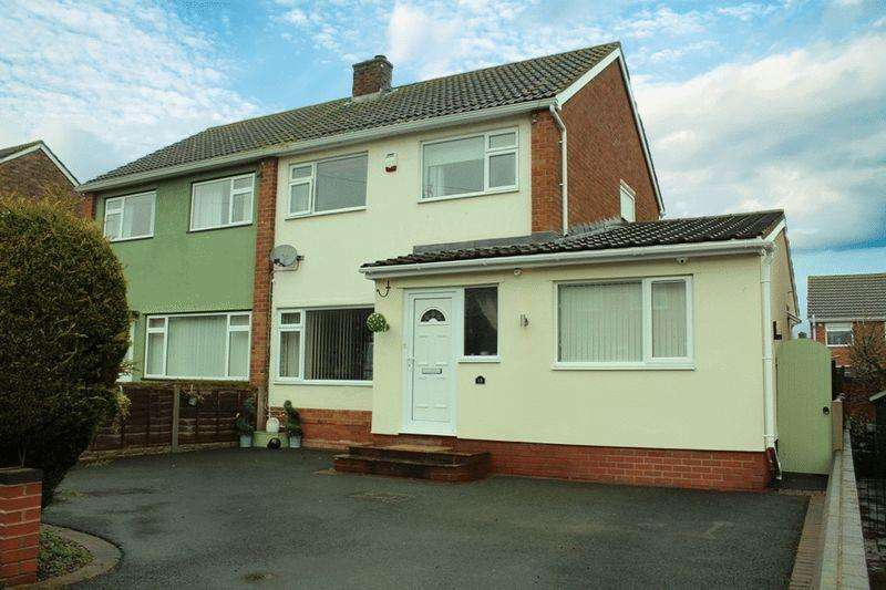4 Bedrooms Semi Detached House for sale in Beeches Drive, Bayston Hill, Shrewsbury, SY3 0PQ