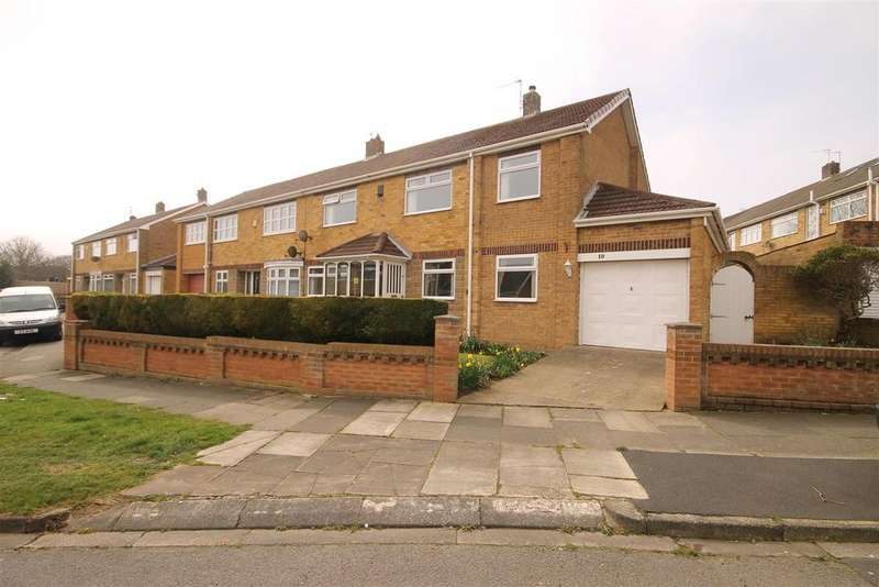 3 Bedrooms Semi Detached House for sale in Parkstone Grove, Hart Station, Hartlepool