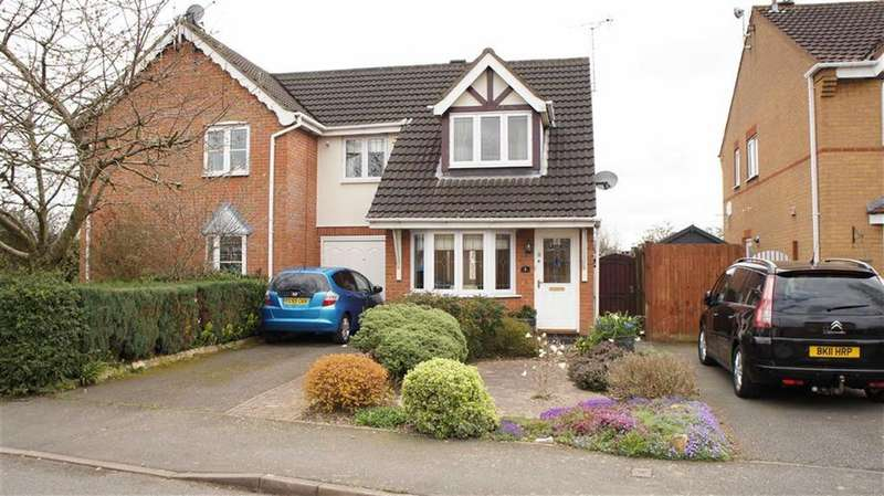 3 Bedrooms Semi Detached House for sale in Lancelot Close, Leicester Forest East