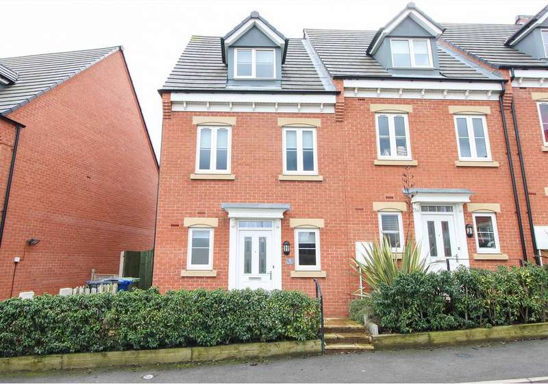 3 Bedrooms Town House for sale in Rugby Drive, Chesterfield