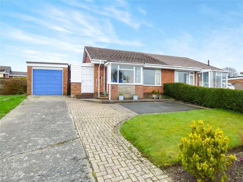 2 Bedrooms Semi Detached Bungalow for sale in Holcombe Drive, Llandrindod Wells, Powys