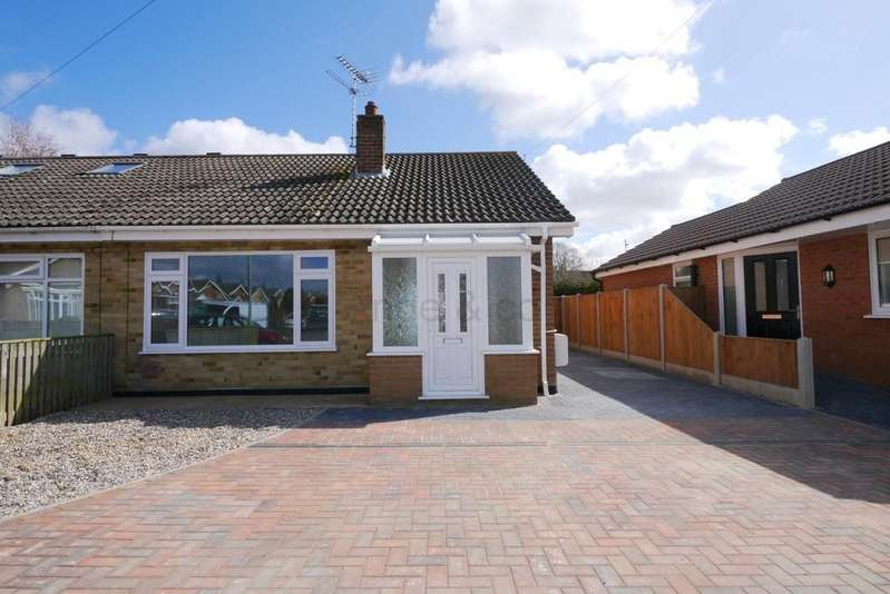 2 Bedrooms Semi Detached Bungalow for sale in Meadow Way, Carlton Colville, Lowestoft