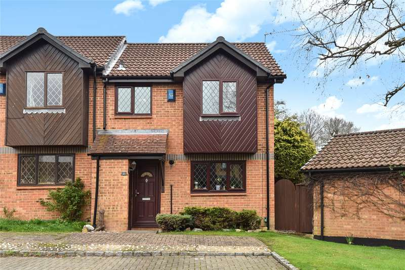2 Bedrooms Semi Detached House for sale in Drayhorse Drive, Bagshot, Surrey, GU19
