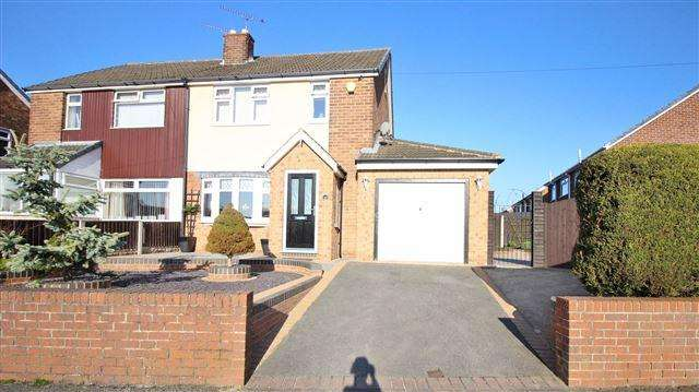 3 Bedrooms Semi Detached House for sale in The Oval, North Anston, Sheffield, S25 4BY