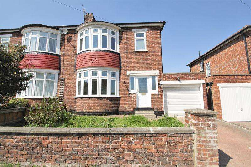 3 Bedrooms Semi Detached House for sale in Kilburn Road, Hartburn, Stockton, TS18 4HA