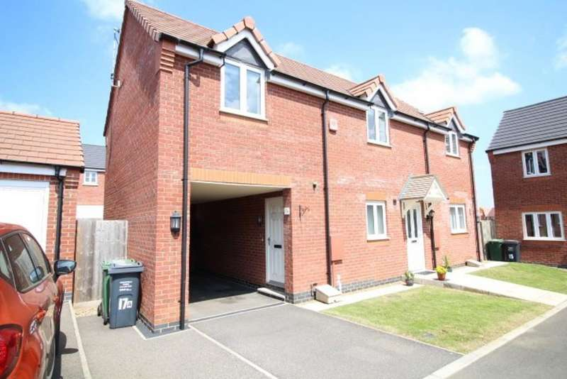 2 Bedrooms Maisonette Flat for sale in Aitken Way, Loughborough