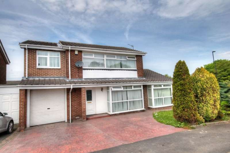 4 Bedrooms Detached House for sale in Glenhurst Drive, Chapel Park, Newcastle Upon Tyne, NE5