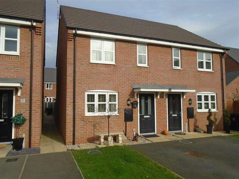 2 Bedrooms Semi Detached House for sale in Allen Close, Hinckley, Leicestershire, LE10