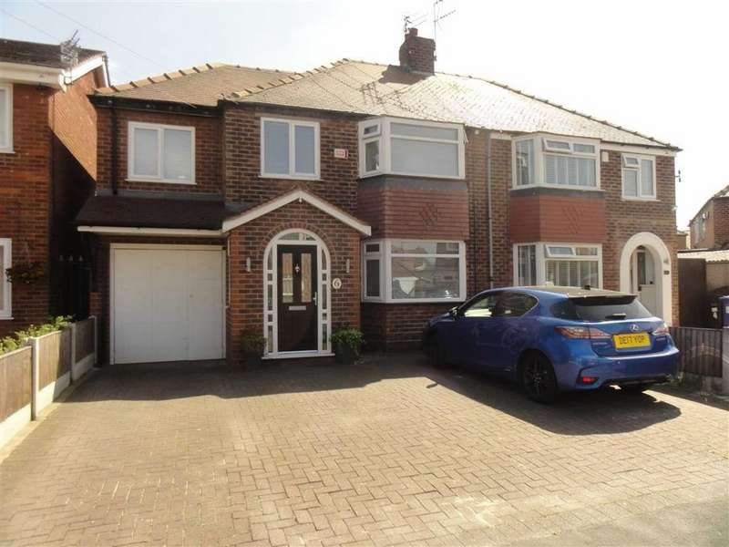 4 Bedrooms Semi Detached House for sale in Peacock Drive, Heald Green