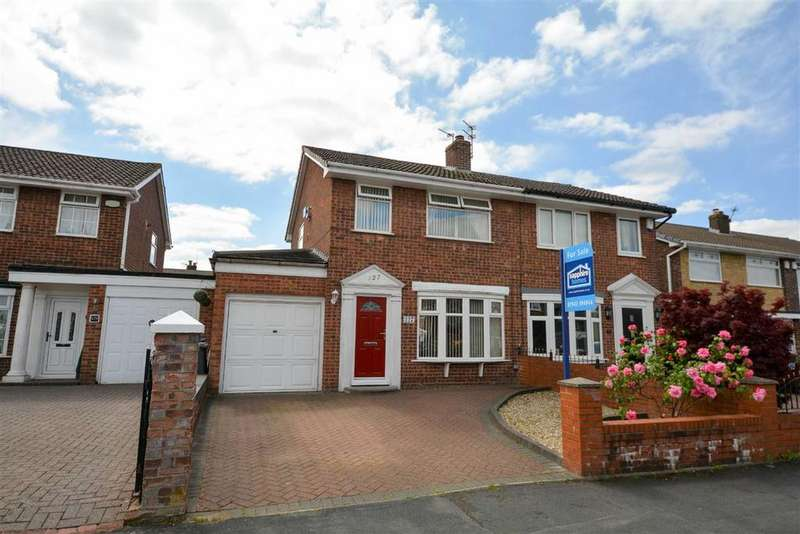 3 Bedrooms Semi Detached House for sale in Raithby Drive, Hawkley Hall, Wigan, WN3