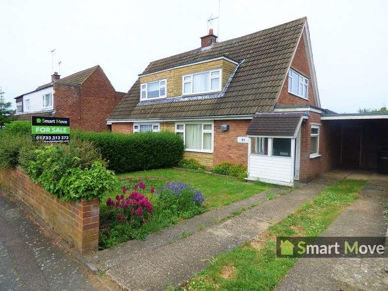 2 Bedrooms Semi Detached Bungalow for sale in Woodhurst Road, Peterborough, Cambridgeshire. PE2 8PG