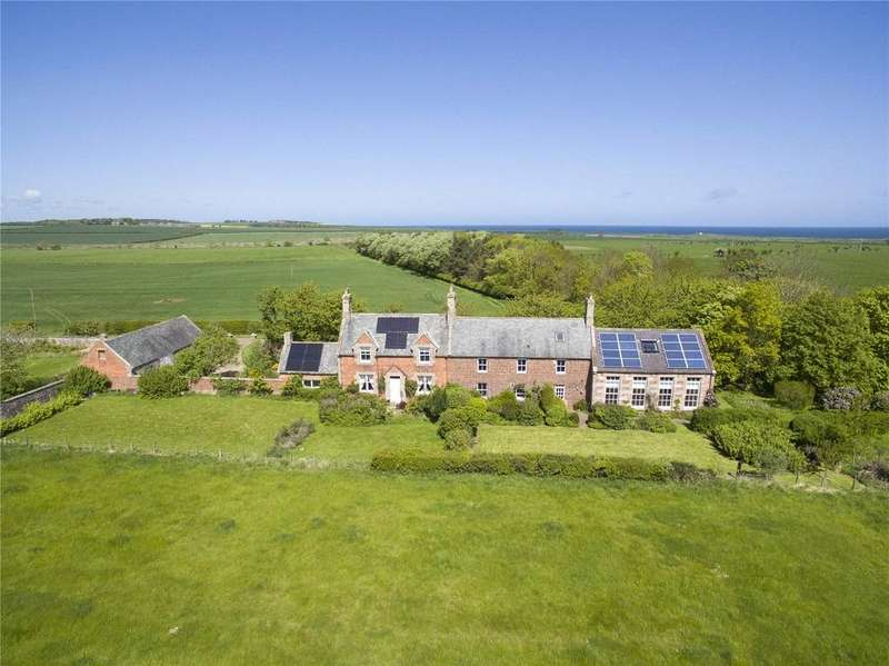 7 Bedrooms Detached House for sale in West Hall and Garden Cottage, Cheswick, Berwick-upon-Tweed, TD15