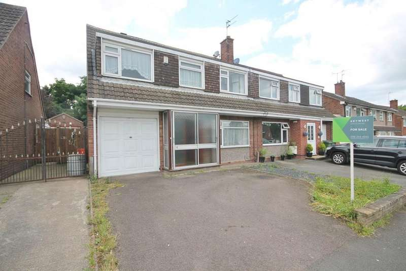 4 Bedrooms Semi Detached House for sale in Packer Avenue, Leicester Forest East, Leicester LE3