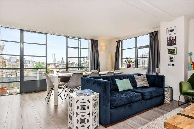 2 Bedrooms Penthouse Flat for sale in Bowling Green Lane, Clerkenwell, Islington, London, EC1R