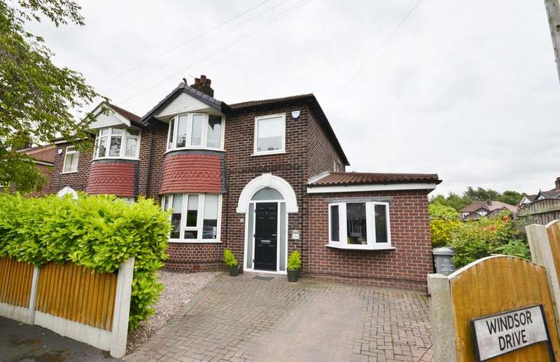 4 Bedrooms Semi Detached House for sale in Windsor Drive, Timperley, Altrincham