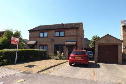 2 Bedrooms Semi Detached House for sale in Delamare Close, Sandy, Bedfordshire