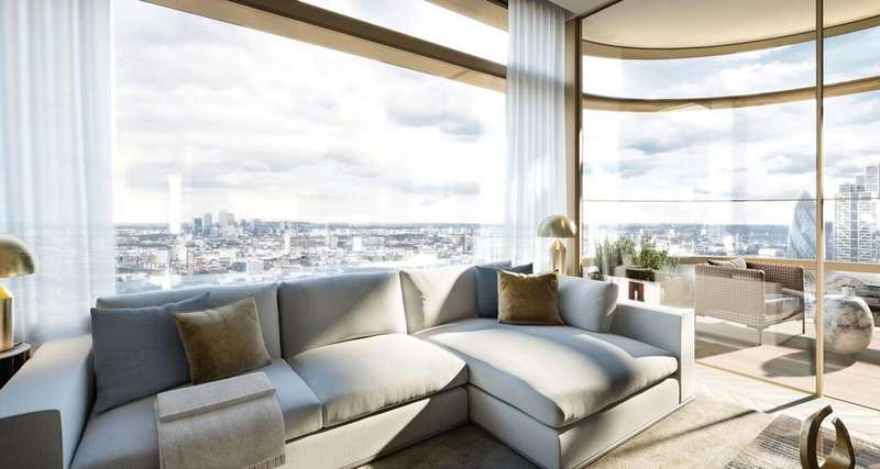 3 Bedrooms Apartment Flat for sale in Principal Tower, Worship Street, EC2A 2BA