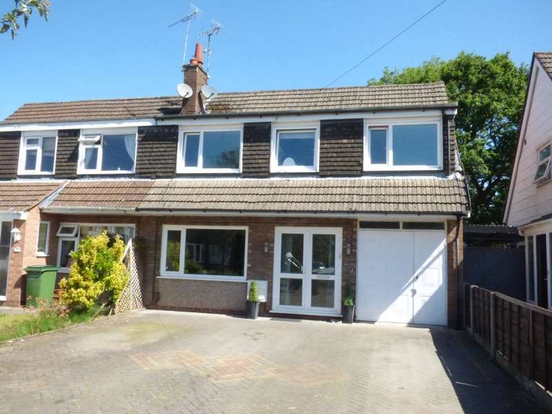 4 Bedrooms Semi Detached House for sale in Corfe Crescent, Hazel Grove, Stockport, SK7