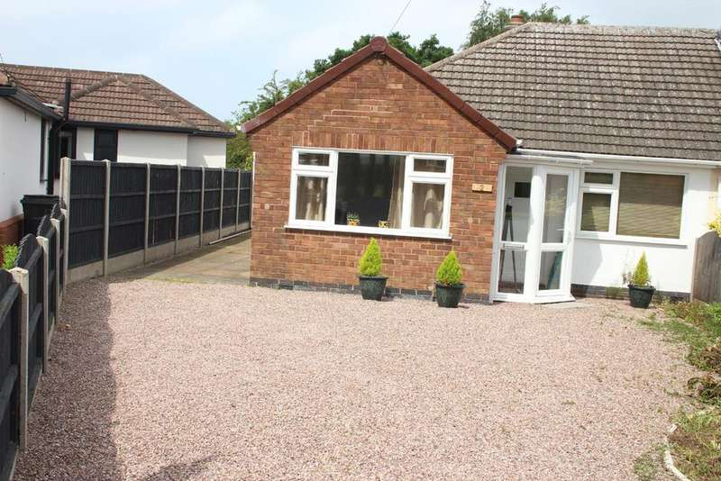 2 Bedrooms Semi Detached Bungalow for sale in Spinney Road, Burbage, Hinckley