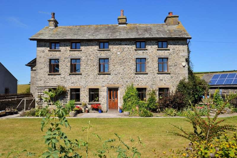 3 Bedrooms Detached House for sale in Wellheads Farmhouse, Sedgwick - 13 Acres + Outbuildings
