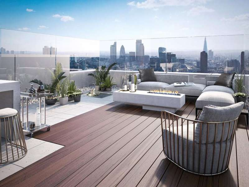 3 Bedrooms Penthouse Flat for sale in 250 City Road, Islington, EC1V