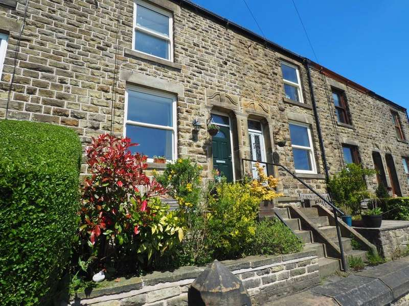 3 Bedrooms Terraced House for sale in High Lea Road, New Mills, High Peak, Derbyshire, SK22 3DT