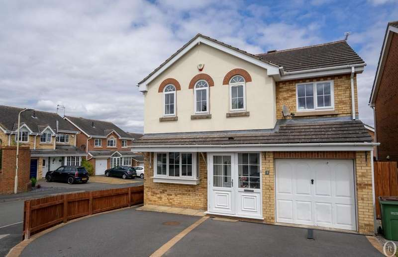 4 Bedrooms Detached House for sale in Rawlings Court, Oadby, Leicester