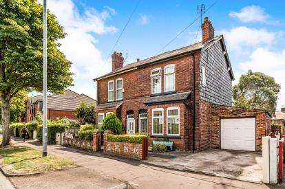 3 Bedrooms Semi Detached House for sale in Sale Road, Northern Moor, Manchester, Greater Manchester