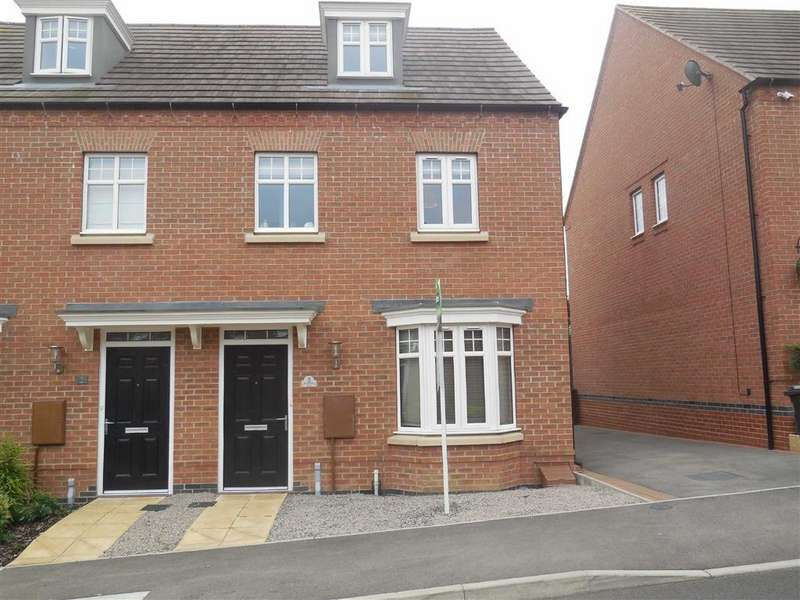 3 Bedrooms Semi Detached House for sale in Amsterdam Drive, Hinckley