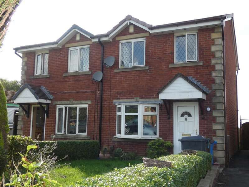3 Bedrooms Semi Detached House for sale in Hill View Close, Oldham, Greater Manchester, OL1