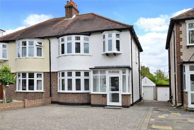 3 Bedrooms Semi Detached House for sale in Wordsworth Drive, Cheam, Sutton, SM3
