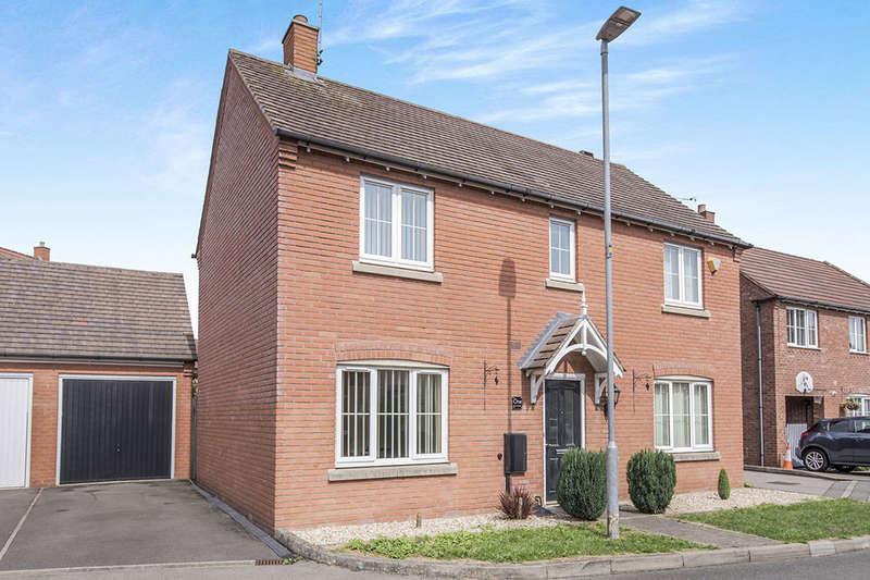 4 Bedrooms Detached House for sale in Beams Meadow, Hinckley, LE10